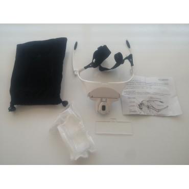 Kutusuz 3.5x Büyüteçli Loop Gözlük LED Kafa Lambası 5 Lensli