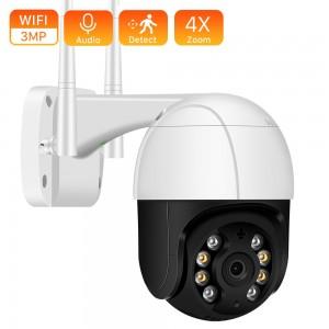PTZ iP Wifi Güvenlik Kamerası 3 MP Dış Mekan Gece Görüşlü