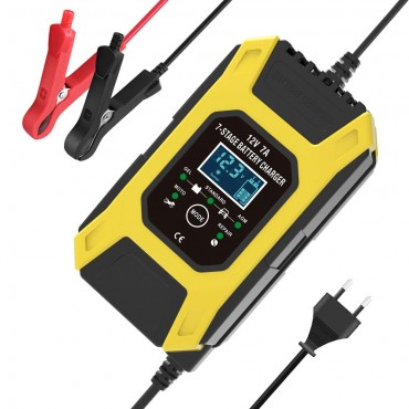 FOXSUR 12 V 7A Desülfatör Cihazı Akü Bakım Şarj Aleti Pulse Darbe Ölü Akü Canlandırma