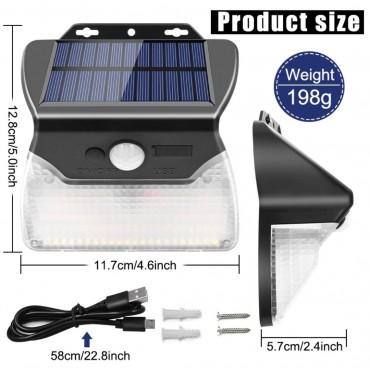 Solar 110 Led Lamba Hareket Sensörlü Güneş Enerjili Aydınlatma