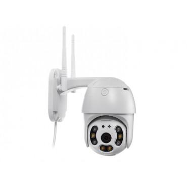 Dış Mekan Güvenlik Kamerası 3MP Gece Görüşlü Hareket Takipli İp Wifi PTZ Kamera