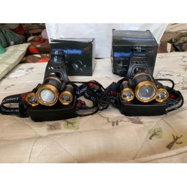 3 LED Kafa Lambası Yüksek Güçlü Su Geçirmez 8000 Lümen